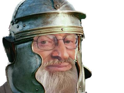 Sticker risitas larry chance romain casque barbe lucky silverstein juif sioniste talmud gladiateur soldat