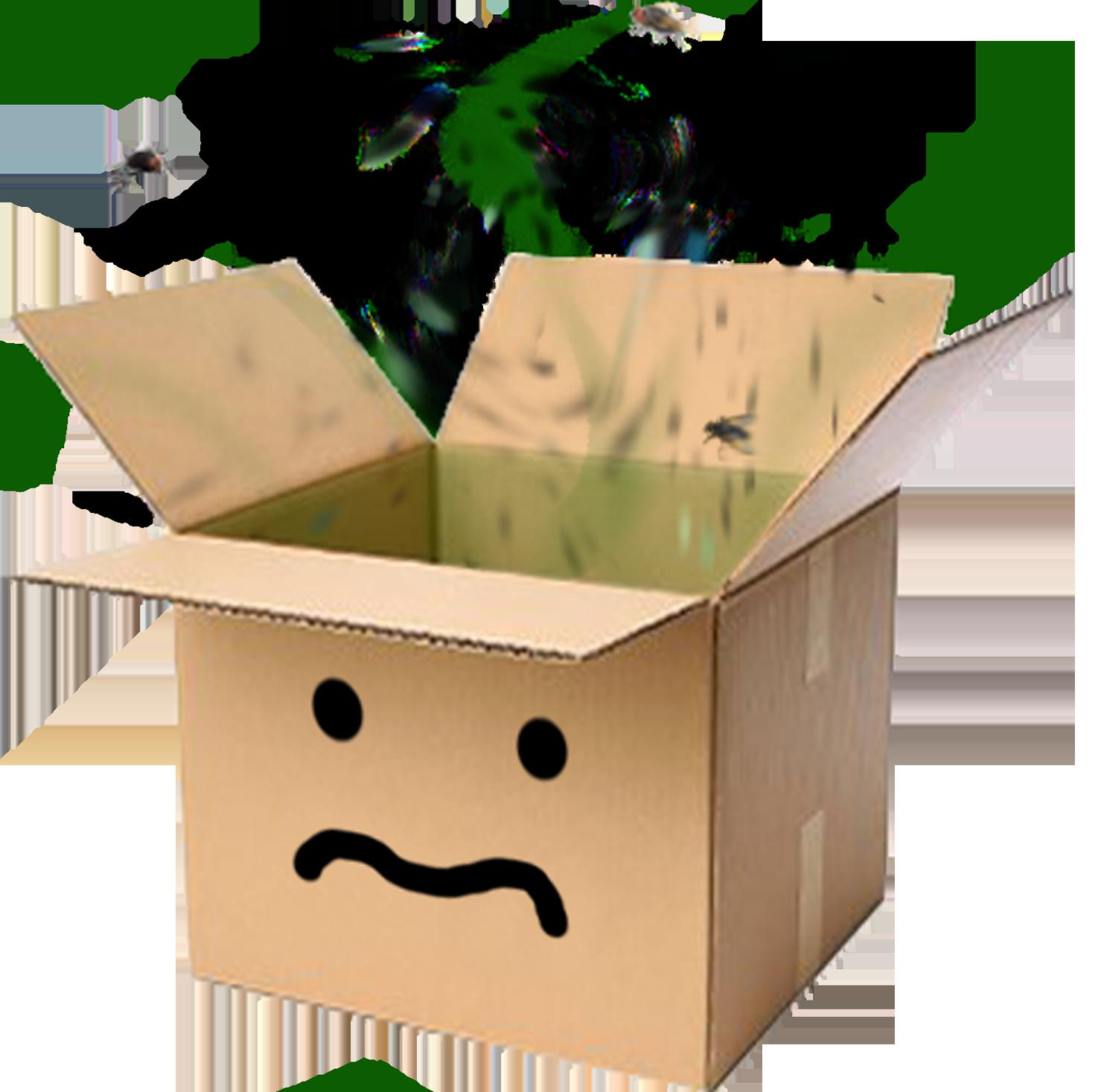 Sticker other carton odeur sad triste puant boite box affreux malade mouche sale cartonfag avenoel