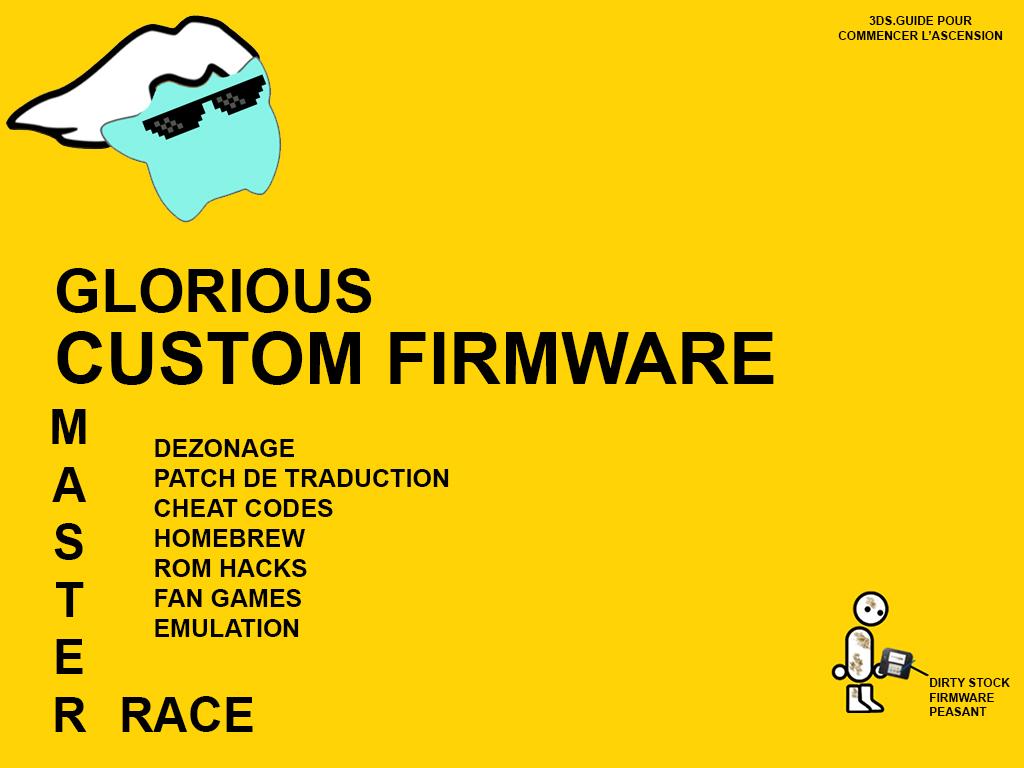 Sticker other 3ds luma custom firmware cfw etoile master race maitre course fond
