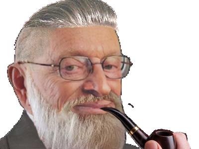 Sticker risitas larry undercut barbe pipe fumer clope chance lucky silverstein finance krach bitcoin oklm cool
