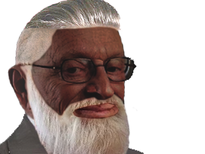 Sticker risitas larry chance undercut barbe noir black negro congoide