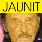 Sticker other johnny halliday mort jaune jonny