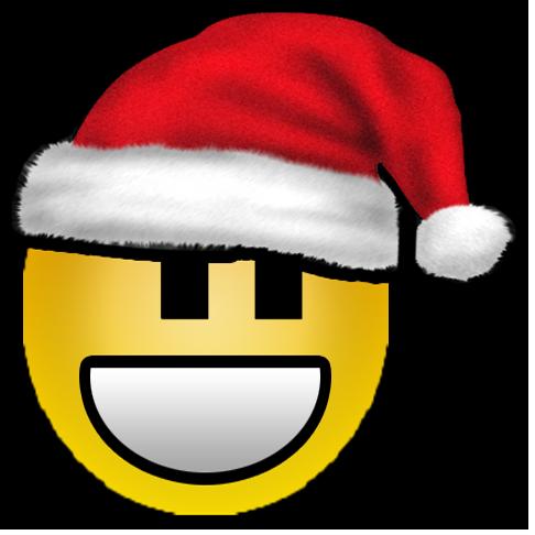 Sticker noeliste avenoel avn jvc smiley rire sourire bonnet noel chapeau christmas noel minimaliste noelien