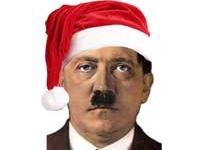 Sticker adolf hitler noel joyeux noel joyeuses fetes humour nazi bonnet bonnet