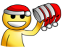 Sticker noel jvc smiley pere bonnet rouge blanc other