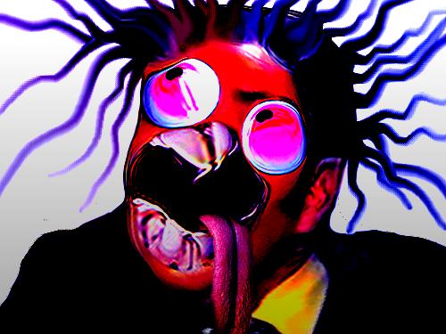 Sticker risitas creepy bizarre omg monstre issou