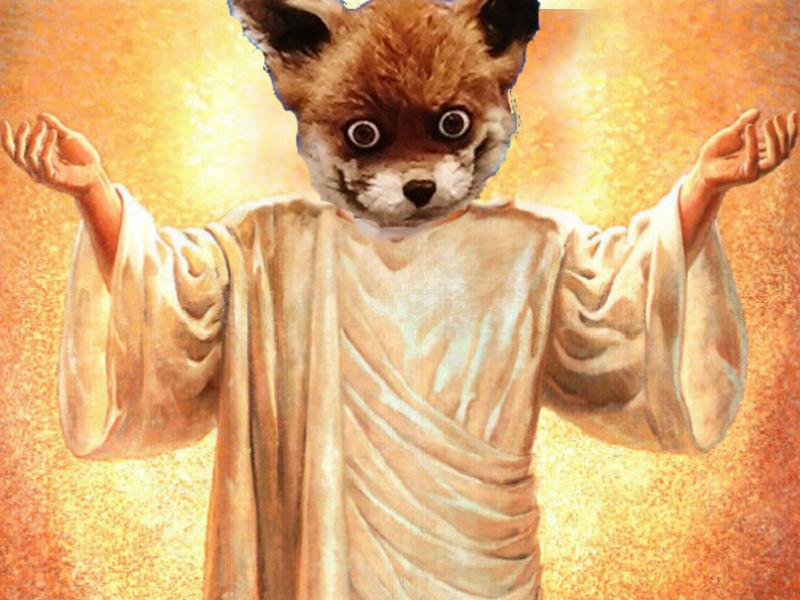 Sticker other renard jesus empaille fox sauveur prophete