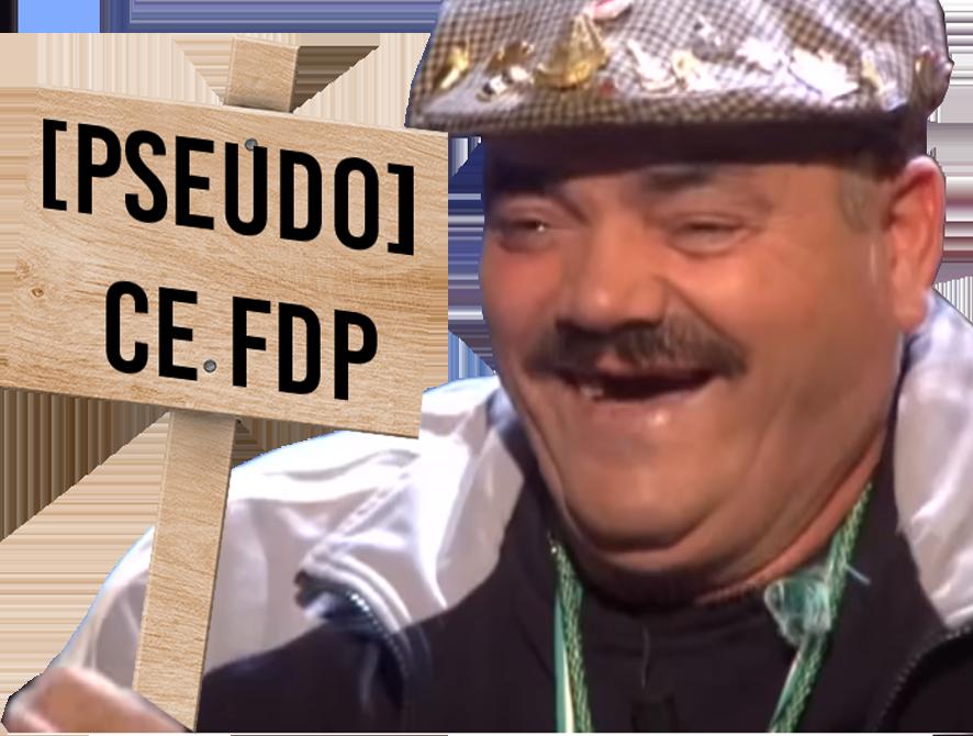 Sticker pseudo fdp avenoel delire avn risitas rire pancarte [pseudo] pseudonyme dev