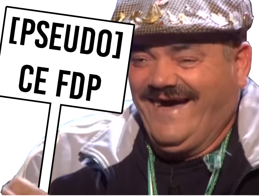 Sticker pseudonyme pseudo delire avn avenoel fdp rire pancarte pseudo risitas dev panneau psedo