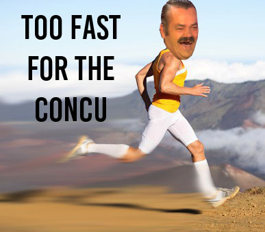 Sticker risitas concurrence vitesse coureur sprint speed concu too fast for the concu speedrun
