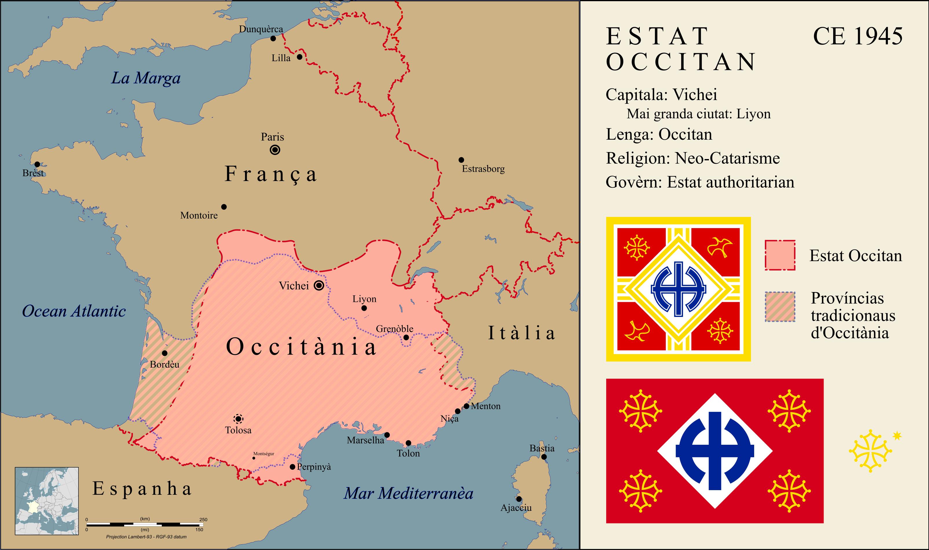 Sticker risitas occitanie wisigoth france carte