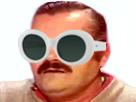 Sticker risitas clout lunettes goggles