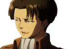 Sticker snk levi sourire
