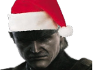 Sticker mgs solidsnake vieux noel