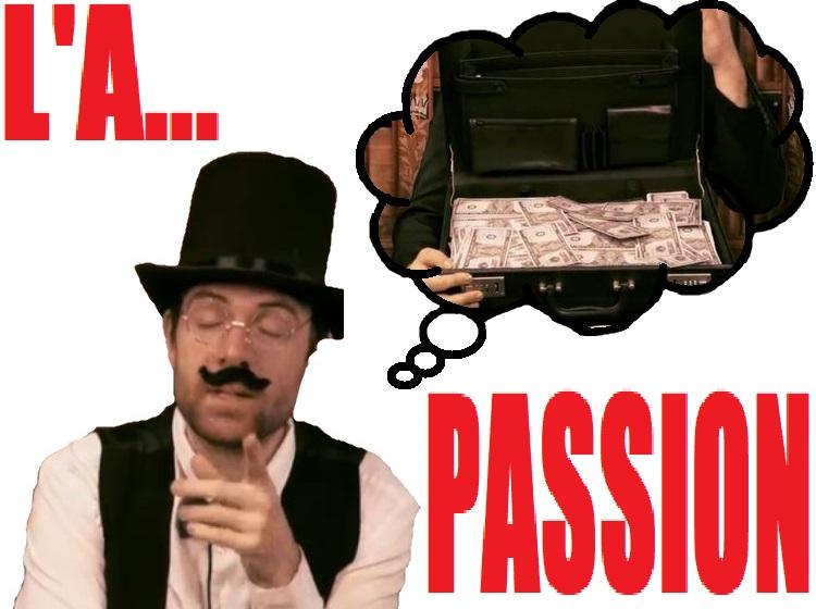 Sticker largent passion jdg joueur du grenier frederic molas cinema le fric pognon riche jvc bridgely