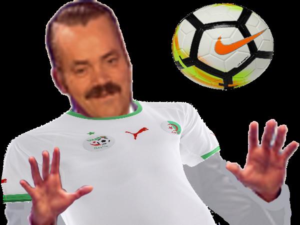Sticker algerie ballon amorti risitas mains on se calme maillot tahia djazair
