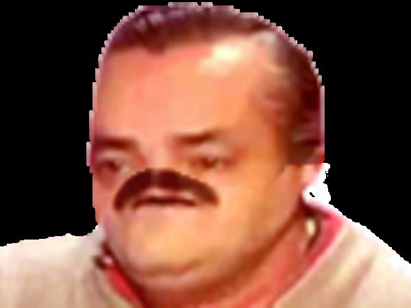 Sticker risitas cyka blyat deform moitie triste moustache