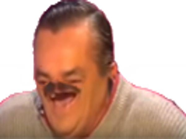 Sticker risitas cyka blyat deform moitie rire moustache