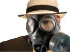 Sticker risitas masque a gaz