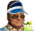 Sticker risitas jesus cocktail vacance