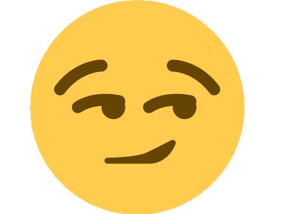 Sticker other smiley smirk discord coquin mignon mouais peut etre possible doute doubt regard de travers malice malicieu malin