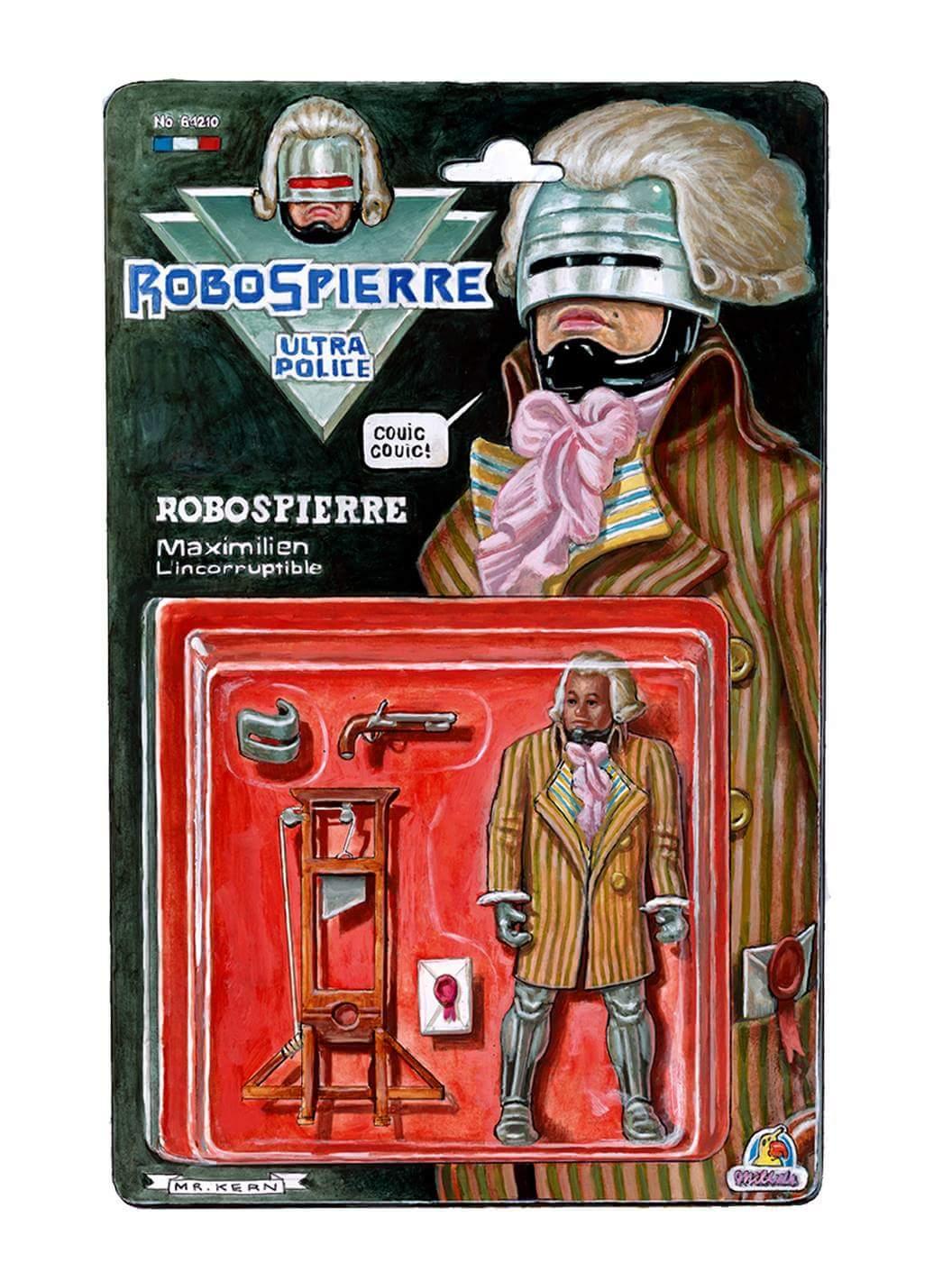 Sticker risitas robespierre robot robotspierre robocop revolution roi france terreur communisme