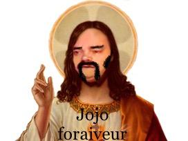 Sticker risitas johnny jesus hallyday jojo foraiveur beauf jacky dieu saint christ