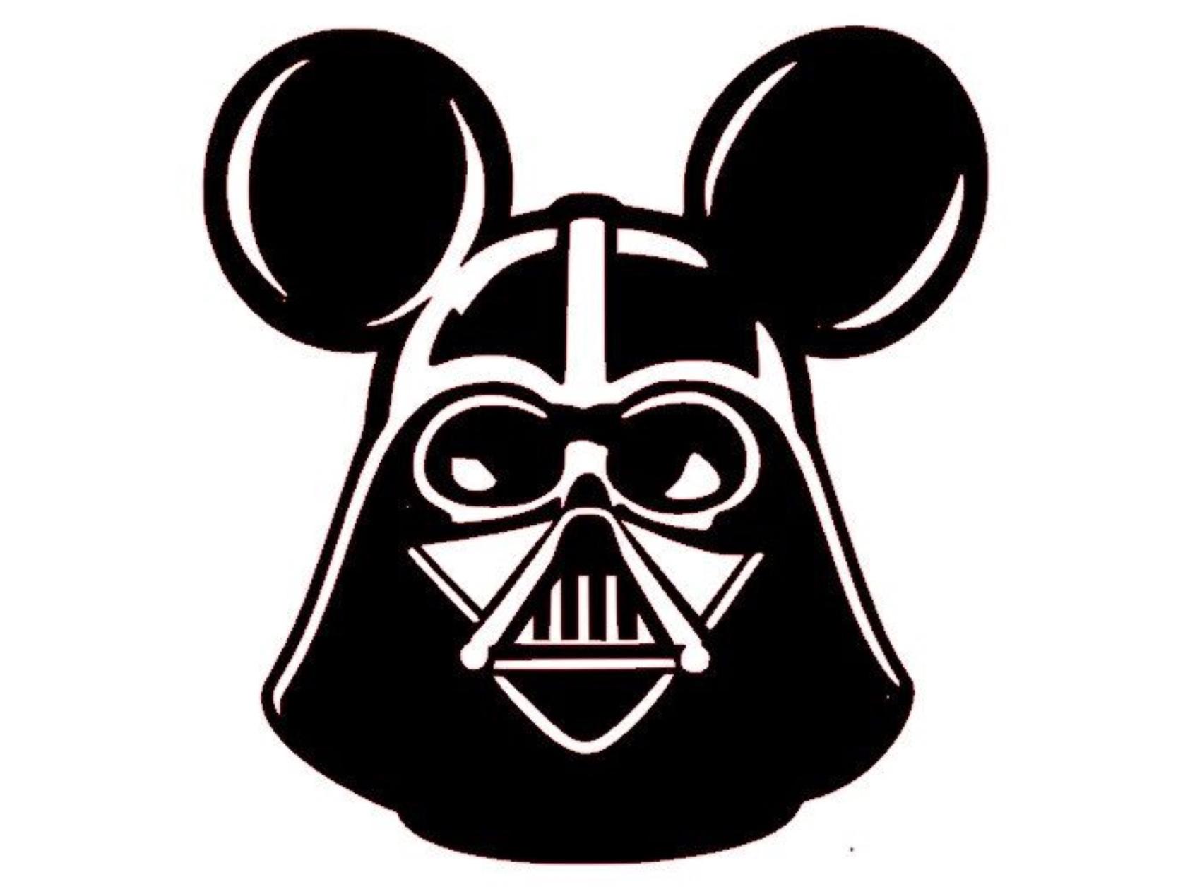 Sticker dark vador mickey mouse disney star wars