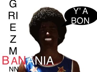 Sticker griezmann congoide antoine negre noir basket foot tweeter ddb malaise enjoy ta ddb y a bon banania ban blackface