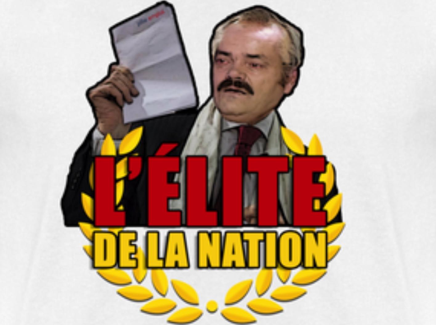 Sticker risitas elite de la nation de lesquen henry jvc 18 25