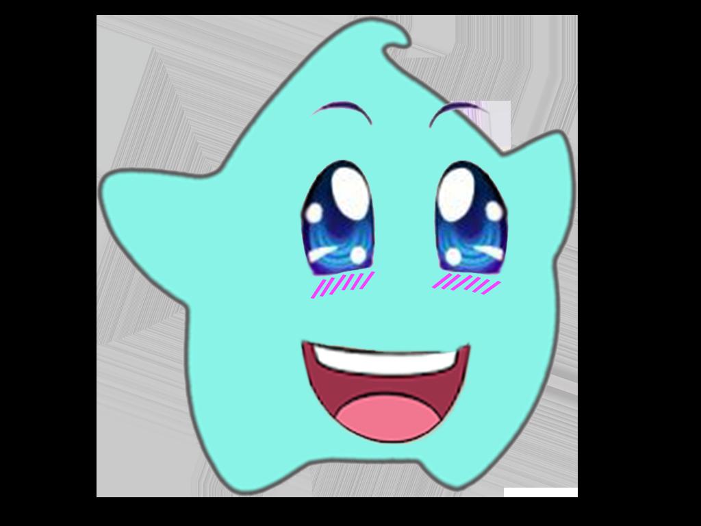 Sticker luma kikoojap kawaii sourire yeux rose bleu etoile cfw japon niais insupportable hitler
