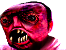 Sticker risitas creepy bizarre horreur enfer omg issou monstre