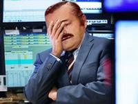 Sticker risitas trader krach crise correction dump gange triste depression pleure larme deficit perte mort bourse bull trap piege main