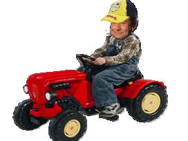 Sticker risitas jesus tracteur jouet enfant pyj pedale paysan campagnard casquette