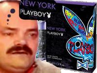 Sticker risitas parfum playboy noel cadeau prolo fete reveillon triste pleure pauvre