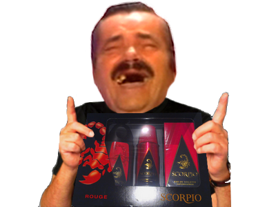 Sticker risitas scorpio cadeau noel coffret parfum rire mdr issou moqueur fete anniversaire gift