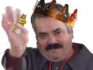 Sticker galette des roi rois feve gateau des roi king