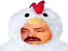 Sticker risitas poulet poule oeuf coq animaux mignon omelette