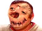Sticker risitas creepy demoniaque enfer omg demon monstre issou immonde
