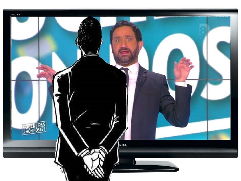Sticker jacob tpmp devant television regarde cyrill hanouna debile graou fairy tail