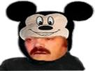 Sticker risitas mickey souris mouse mignon deguisement adorable disney