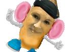 Sticker risitas madame patate calvitie miss jirachi