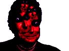 Sticker risitas creepy enfer omg bizarre demon issou jesus