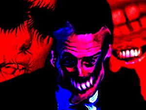 Sticker risitas macron omfg creepy satan bizarre immonde satan aya demon bordel