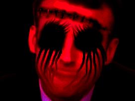 Sticker risitas macron creepy bizarre omg enfer aya demon