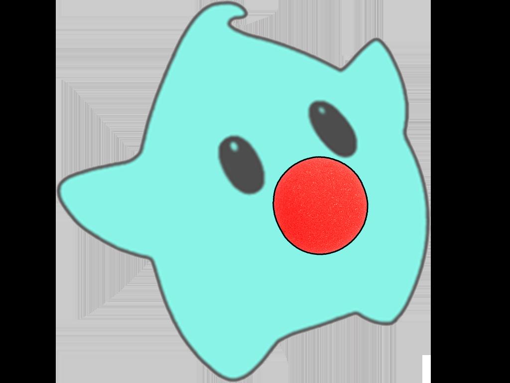 Sticker other luma clown etoile bleu cfw mignon nez rouge rigolo