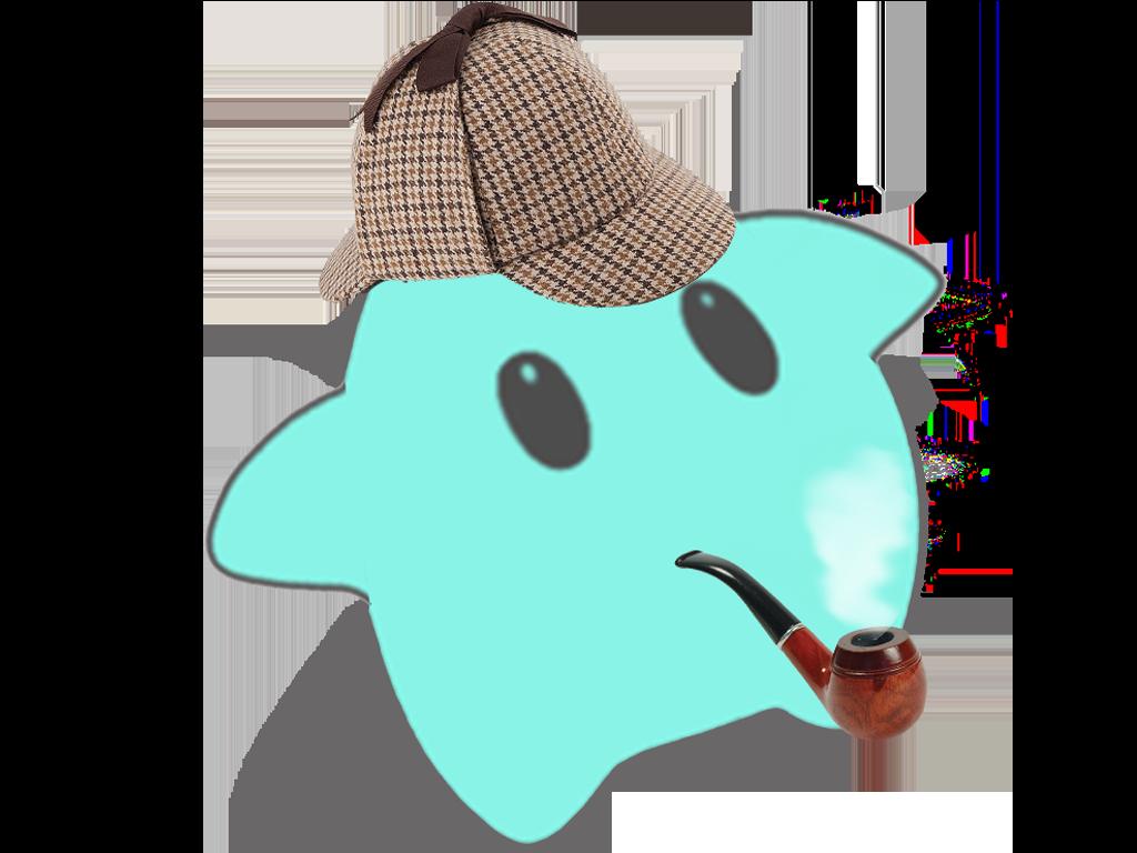 Sticker other luma sherlock pipe chapeau casquette cap tabac etoile cfw