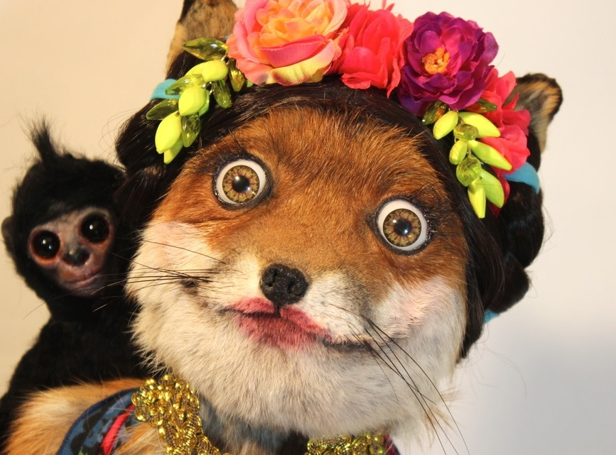 Sticker other renard fox femme maquillage