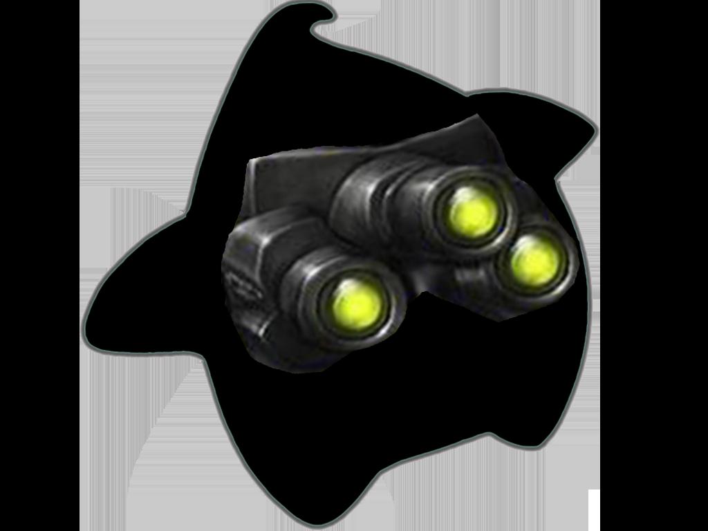 Sticker other luma splinter cell sam fisher lunettes vision nocturne vert noir espion bureau securite jeu triple yeux etoile cfw