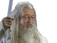 Sticker other larry gandalf le blanc lsda lotr mage magicien sorcier sorceleur vous ne passerez pas seigneur des anneaux lord of the rings